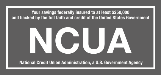 Your savings federally insured to at least $250,000 and backed by the full faith and credit of the U.S. Government. The National Credit Union Administration (NCUA) is a U.S. Government Agency. Traditional and Roth IRAs (Individual Retirement Accounts) are insured to $250,000 by the NCUA.